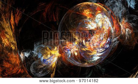 Bubble colored smoke.