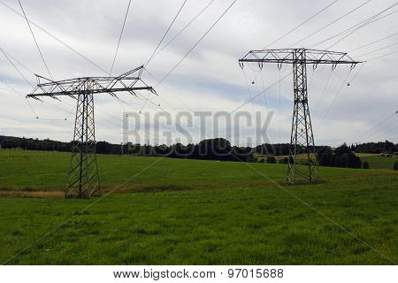 electrical tower pylon high voltage energy Strom