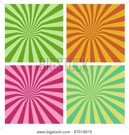 Tunnel Vortex In Multiple Color Stripe Pattern