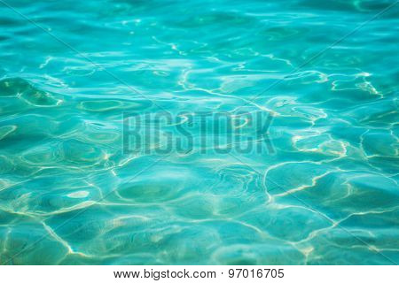 Blue sea water surface background
