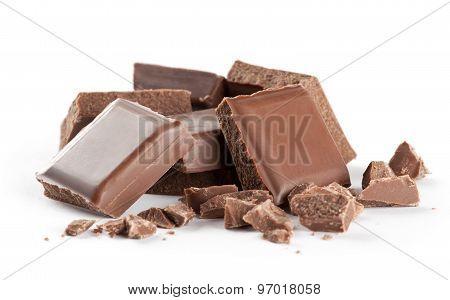 Chocolate bars Closeup
