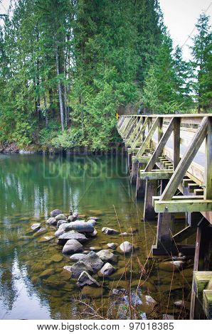 bridge over water