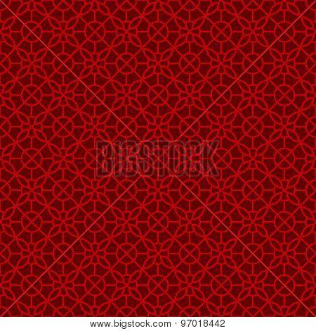 Seamless Chinese window tracery flower lattice geometry pattern background.