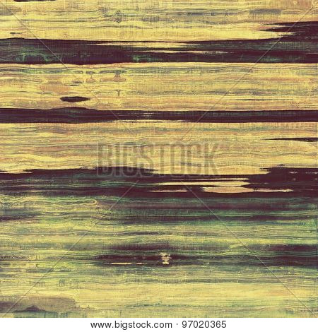 Grunge texture with decorative elements and different color patterns: yellow (beige); brown; purple (violet); green