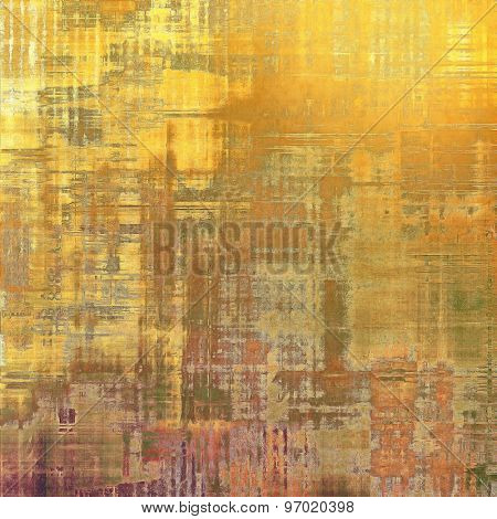 Grunge texture, may be used as retro-style background. With different color patterns: yellow (beige); brown; gray; purple (violet)
