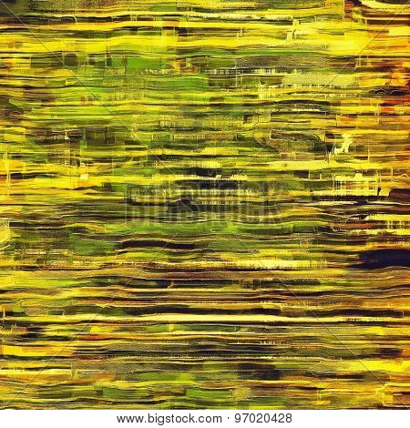 Old abstract texture with grunge stains. With different color patterns: yellow (beige); brown; green; black