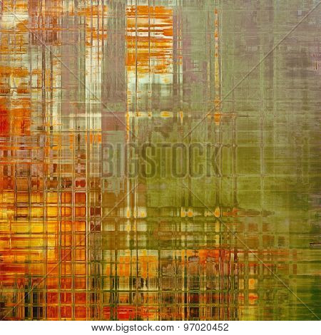Abstract distressed grunge background. With different color patterns: yellow (beige); gray; green; red (orange)