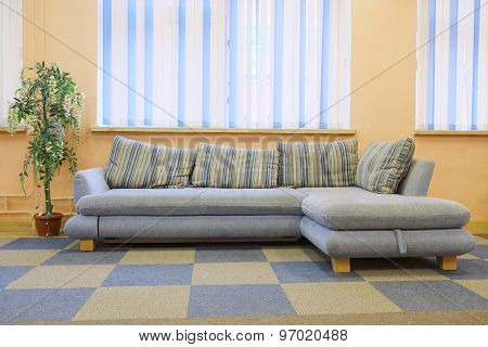 Interior with the image of sofa