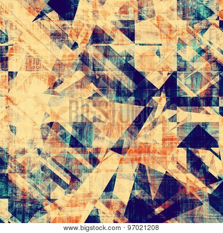 Abstract grunge background or old texture. With different color patterns: yellow (beige); blue; cyan; red (orange)