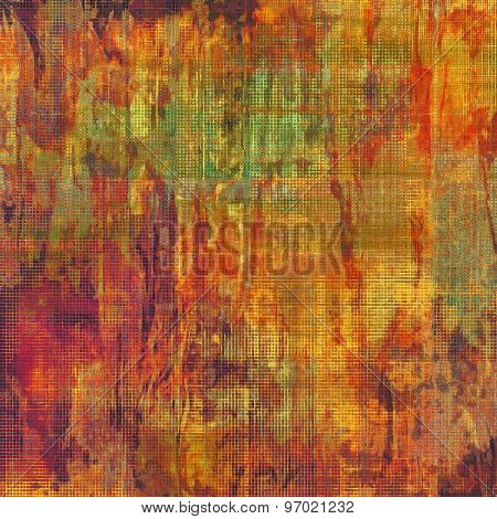 Grunge texture, may be used as retro-style background. With different color patterns: yellow (beige); brown; purple (violet); green; red (orange)