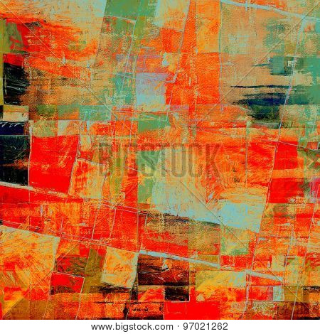 Abstract distressed grunge background. With different color patterns: yellow (beige); green; black; cyan; red (orange)