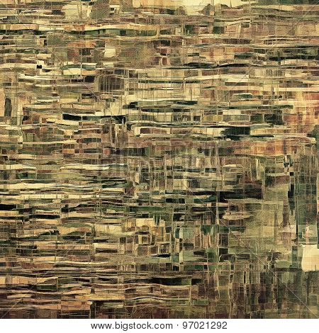 Ancient grunge background texture. With different color patterns: yellow (beige); brown; gray; green