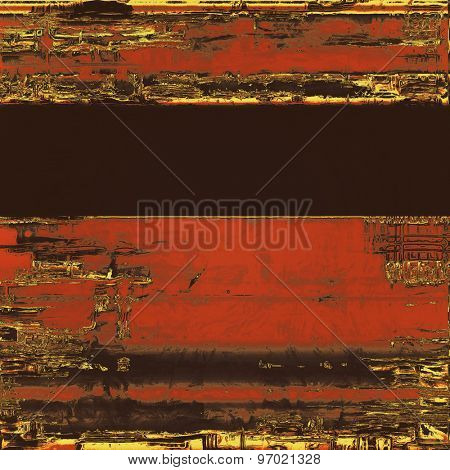 Vintage texture with space for text or image. With different color patterns: yellow (beige); brown; black; red (orange)