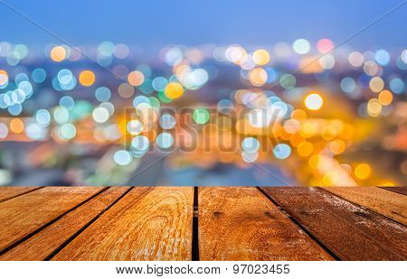 Blur Background With Bokeh Image.