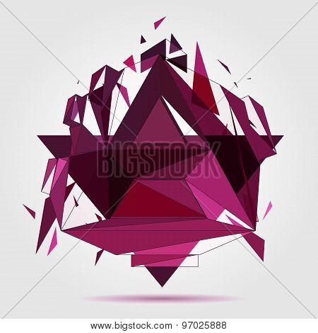 Crushed geometric object.