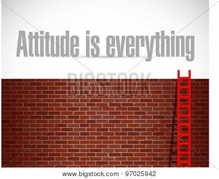 Attitude Is Everything Sign Concept