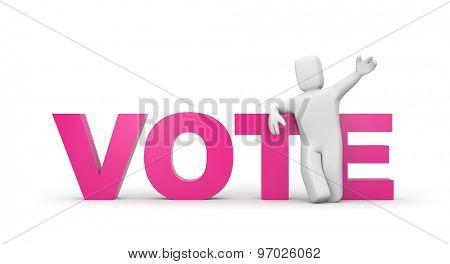 Vote. Politic concept