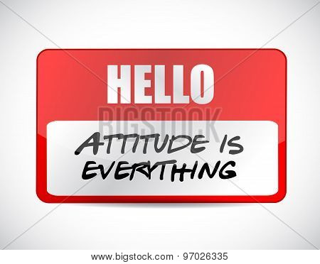 Attitude Is Everything Name Tag Sign Concept