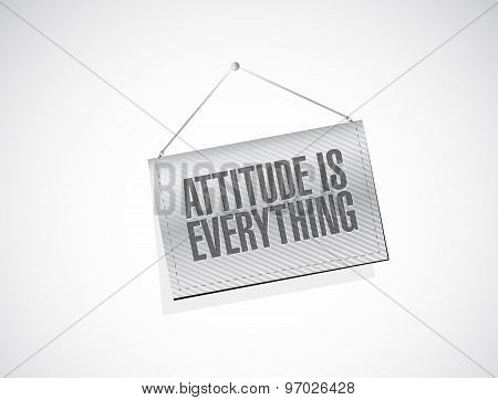 Attitude Is Everything Hanging Banner Sign Concept