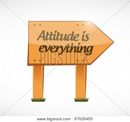 Attitude Is Everything Wood Board Sign Concept