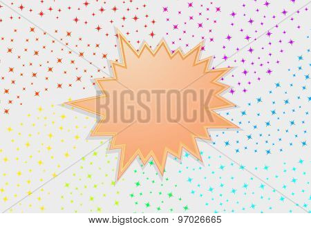 starburst splash star festive abstract background