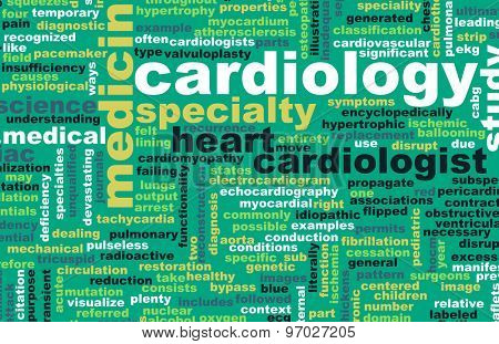 Cardiology or Cardiologist Medical Field Specialty As Art