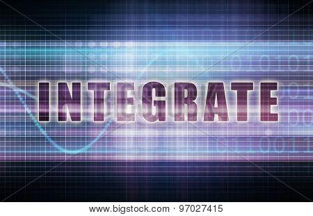 Integrate on a Tech Business Chart Art