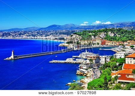 scenic coast of Nice, french riviera
