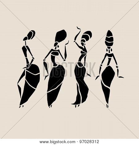 African silhouette set.