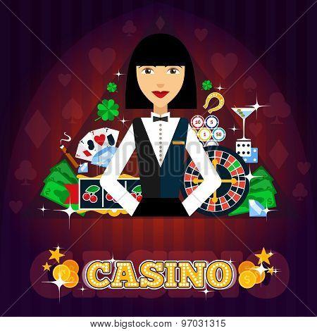 Casino Dealer Concept
