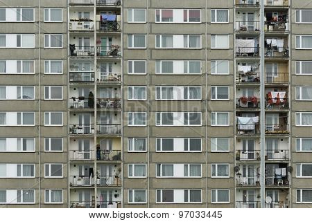 Communist style apartment houses