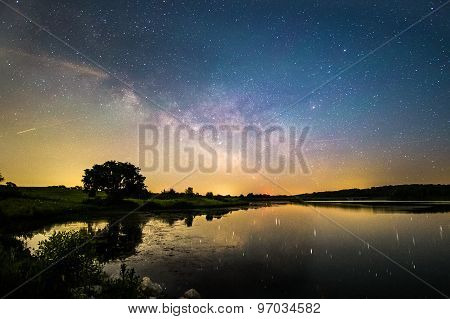 Milky Way Reflection over Lake