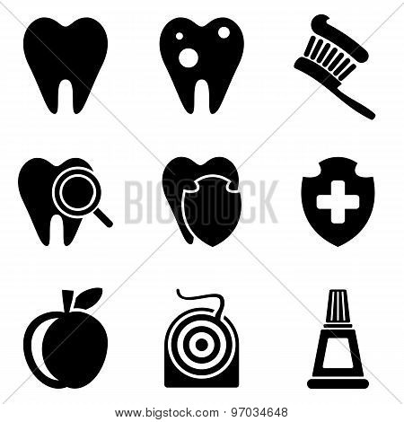 Dental Web And Mobile Logo Icons Collection