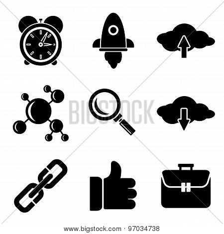 Seo Web And Mobile Logo Icons Collection