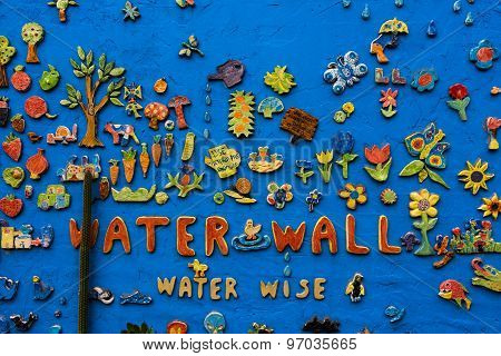 A Brightly Decorated Wall Mosaic - 25 July 2015