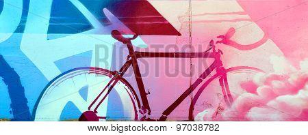 Street art Montreal cyclist