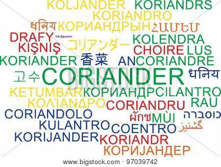 Background concept wordcloud multilanguage international many language illustration of corainder