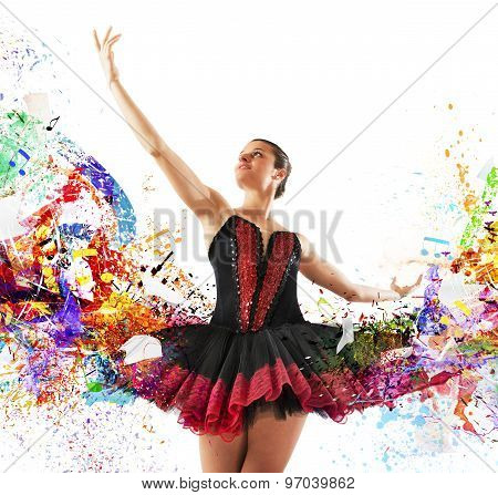 Colours classical dancer