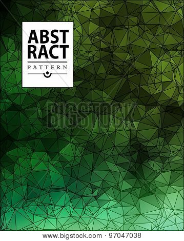 Set of abstract polygonal background