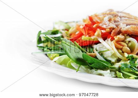 Salad Of Fried Chicken