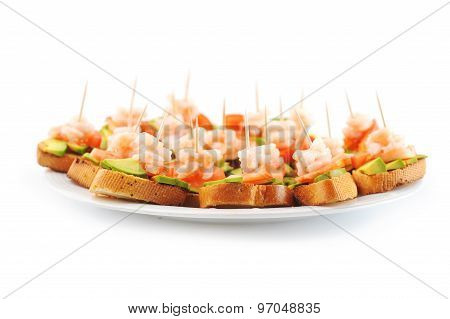 Sandwiches  With Shrimps