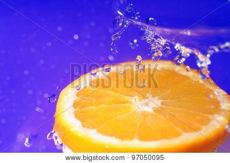 Juicy Orange And Splashes