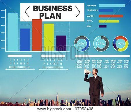 Business plan Bar Graph Data Development Information Concept