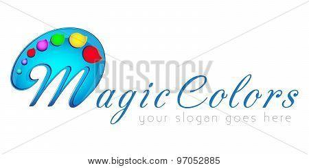 Logo template, art, abstraction, magic colors, vector