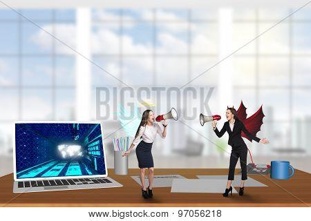 Businessperson on the desktop