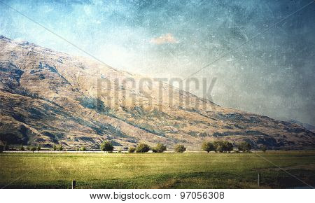 Natural beautiful landscape of mountain and forest