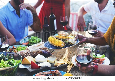 Diverse People Luncheon Food Sharing Concept