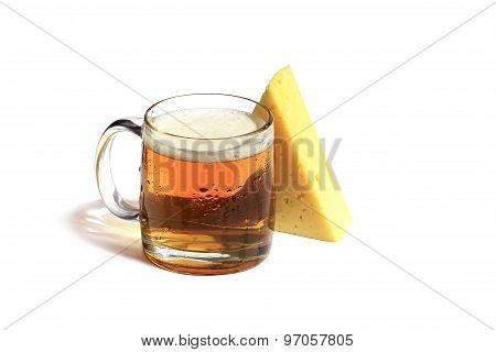 Mug Excellent Beer And Gorgeous Piece Of Cheese Will Decorate Your Life