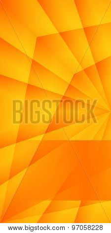 Orange Crystals Background Brochure Cover Page Layout