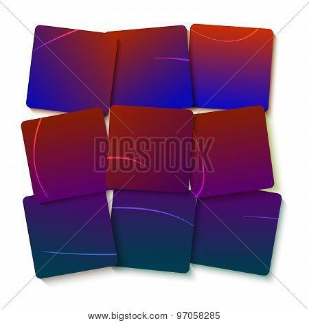 Purple Gradient Square Displacement Presentation Template